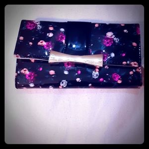 Betsey Johnson floral bow patent leather wallet